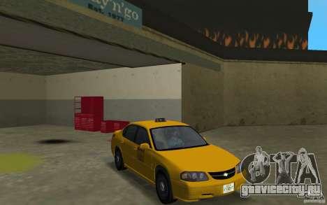 Chevrolet Impala Taxi для GTA Vice City вид сзади