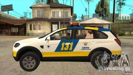 Chevrolet Captiva Police для GTA San Andreas вид слева