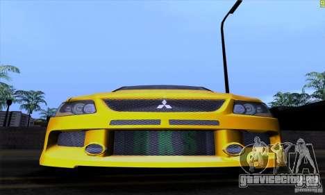 Mitsubishi Lancer Evolution IX 2006 для GTA San Andreas вид снизу