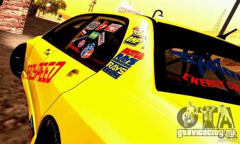 Mitsubishi Lancer Evolution VIII - ProSpeed для GTA San Andreas вид сзади слева