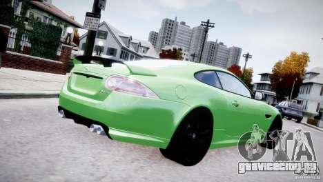 Jaguar XKR-S 2012 для GTA 4 вид сзади слева