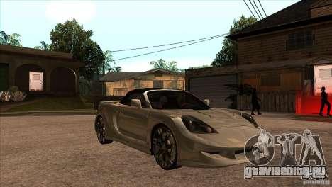 Toyota MR-S Veilside для GTA San Andreas вид сзади