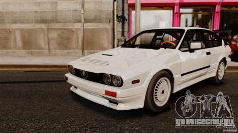 Alfa Romeo GTV6 1986 для GTA 4