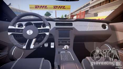 Ford Mustang Shelby GT500 2010 (Final) для GTA 4 вид сзади