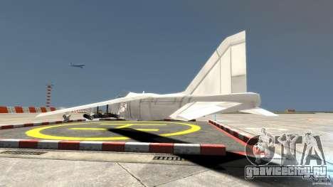 Liberty City Air Force Jet для GTA 4 вид сзади слева