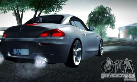BMW Z4 Stock 2010 для GTA San Andreas вид сзади слева