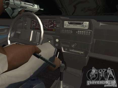 VAZ 21099 для GTA San Andreas вид изнутри