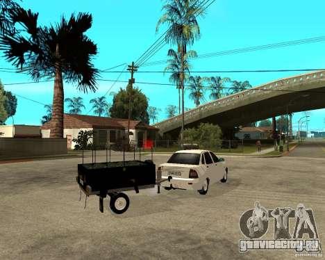 ВАЗ 2170 Приора Light tuning и прицеп для GTA San Andreas вид сзади слева