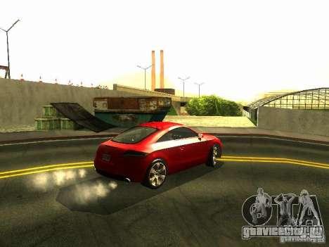Audi TT 2009 v2.0 для GTA San Andreas вид сзади