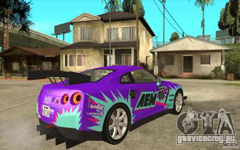 Nissan GT R Shift 2 Edition для GTA San Andreas вид сзади