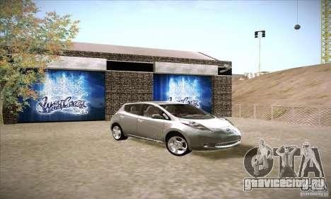 Nissan Leaf 2011 для GTA San Andreas вид справа