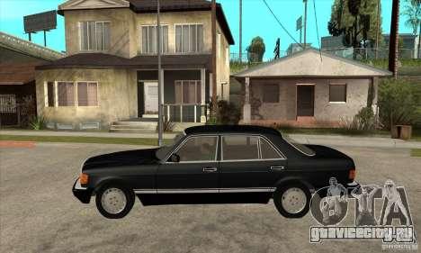Mercedes Benz W126 560 v1.1 для GTA San Andreas вид слева