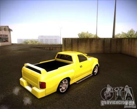 Dodge Dakota tuning для GTA San Andreas вид сзади слева