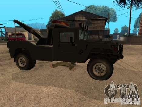 HUMMER H1 тягач для GTA San Andreas вид справа