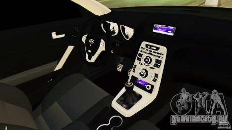 Hyundai Genesis Coupe 2010 для GTA 4 вид изнутри