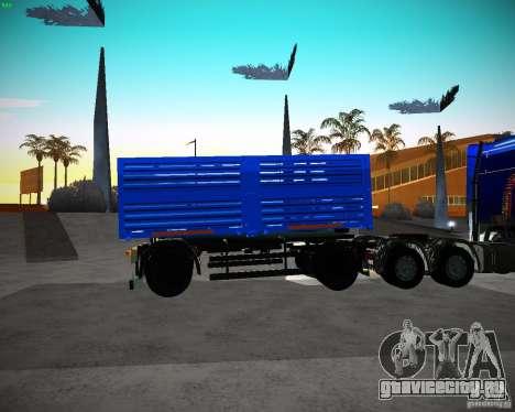 Прицеп к КамАЗу 65117 Зерновоз для GTA San Andreas вид слева