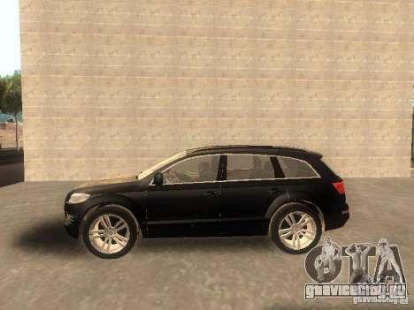 Audi Q7 TDI Stock для GTA San Andreas вид слева