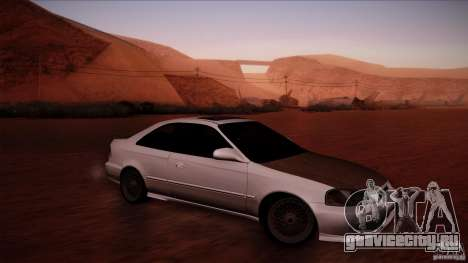 Honda Civic Coupe Si Coupe 1999 для GTA San Andreas вид слева