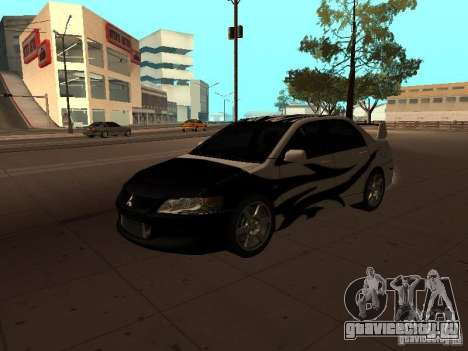 Mitsubishi Lancer Evolution 8 для GTA San Andreas вид сбоку
