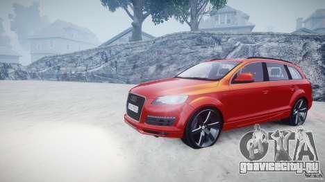 Audi Q7 LED Edit 2009 для GTA 4 вид сзади