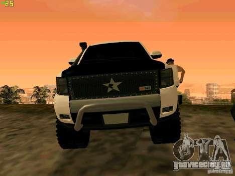 Chevrolet Silverado Final для GTA San Andreas вид сзади