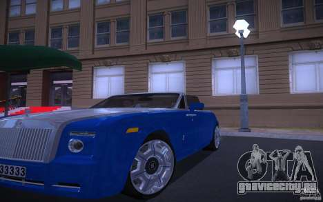 Rolls-Royce Phantom Drophead Coupe для GTA San Andreas вид сзади