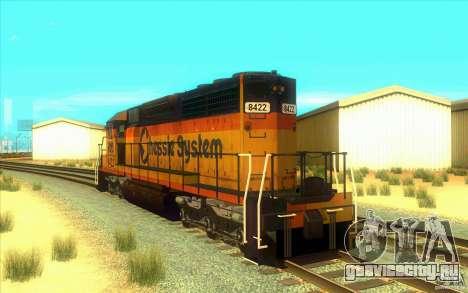 Chessie System sd40-2 для GTA San Andreas вид сзади слева