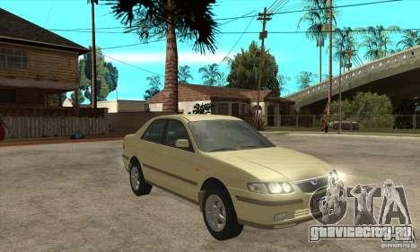 MAZDA 626 GF Sedan для GTA San Andreas вид сзади