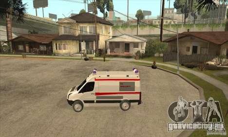 Volkswagen Crafter Ambulance для GTA San Andreas вид слева