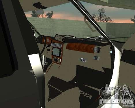Toyota Surf v2.1 для GTA San Andreas вид сзади