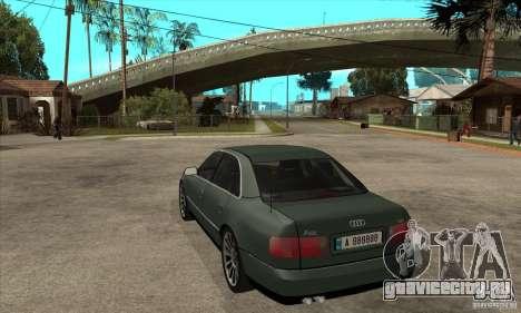 Audi A8 Long 6.0 2000 для GTA San Andreas вид сзади слева
