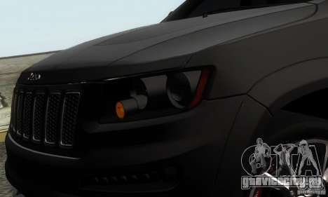 Jeep Grand Cherokee SRT8 для GTA San Andreas вид сзади слева