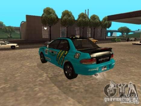 Subaru Impreza WRX STI 1995 для GTA San Andreas салон