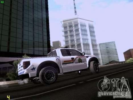 Ford Raptor Royal Canadian Mountain Police для GTA San Andreas вид сзади