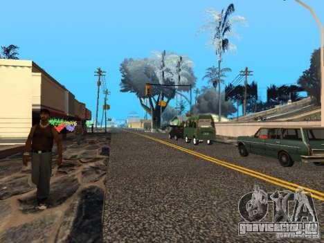 Новый Год на Гроув Стрит для GTA San Andreas пятый скриншот