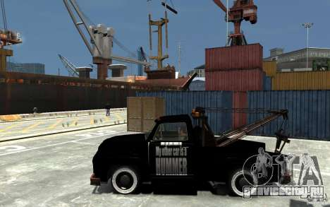Black Towtruck для GTA 4 вид слева