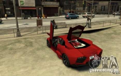 Lamborghini Reventon Coupe для GTA 4 вид сзади слева