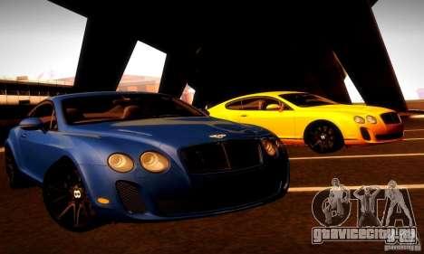 Bentley Continental Supersports для GTA San Andreas вид снизу