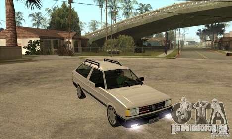 VW Parati GLS 1989 для GTA San Andreas вид сзади