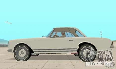 Mercedes-Benz 280SL (глянцевый) для GTA San Andreas вид сзади слева