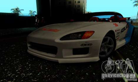 Honda S2000 Tunable для GTA San Andreas вид сбоку