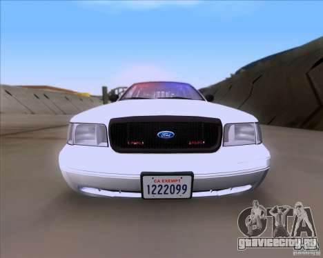 Ford Crown Victoria 2009 Detective для GTA San Andreas вид справа