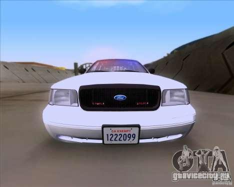 Ford Crown Victoria 2009 Detective для GTA San Andreas вид справа