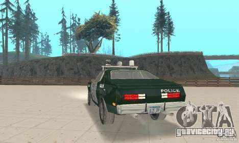 Plymouth Duster 340 Police для GTA San Andreas вид слева