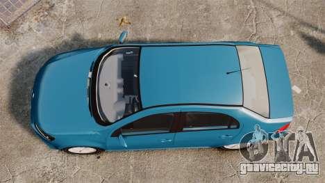 Volkswagen Voyage G6 2013 для GTA 4 вид справа