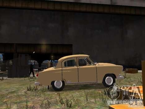 ГАЗ 21Р для GTA 4 вид изнутри