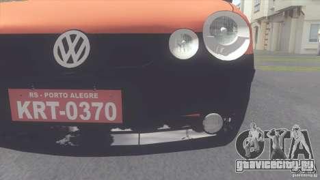 VW Polo Taxi de Porto Alegre для GTA San Andreas вид сзади слева