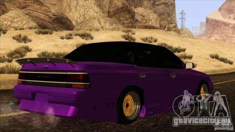 Subaru Legacy Drift Union для GTA San Andreas вид изнутри