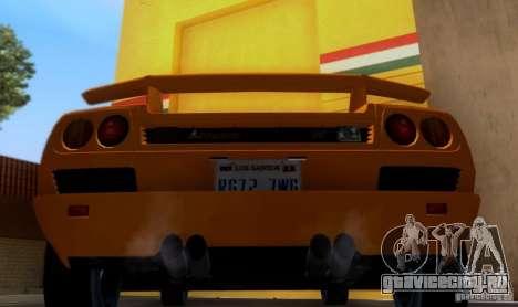 Lamborghini Diablo VTTT Black Revel для GTA San Andreas вид справа