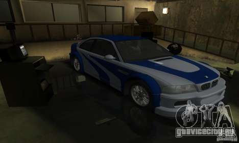 BMW M3 Tuneable для GTA San Andreas двигатель